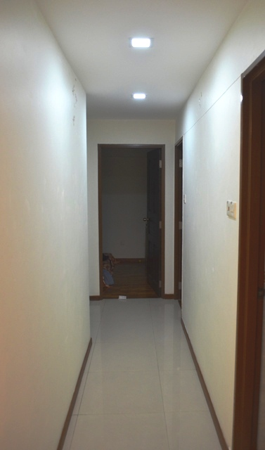 Sengkang 4rm apartment corridor with 2 CLHS003 square LED Lighting Special Deals: LED Downlights