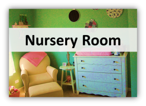 nursery room 300x218 Lights, Furniture & Deco