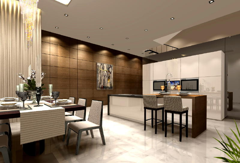 Harlyn Rd Dining Dry Kitchen 2 Interior Designs from DWorkz Group: Harlyn Road