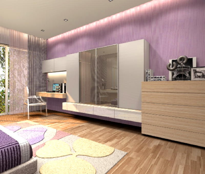 Harlyn Rd Girls Room 2 4 Interior Designs from DWorkz Group: Harlyn Road