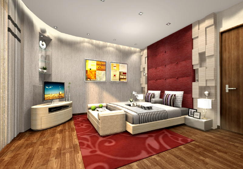 Jln ULU Sembawang Master Room 2 Interior Designs from DWorkz Group: Jln Ulu Sembawang