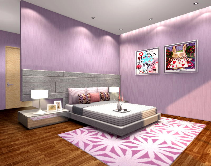 Jln ULUSembawang Girls Rooms room 3 Interior Designs from DWorkz Group: Jln Ulu Sembawang