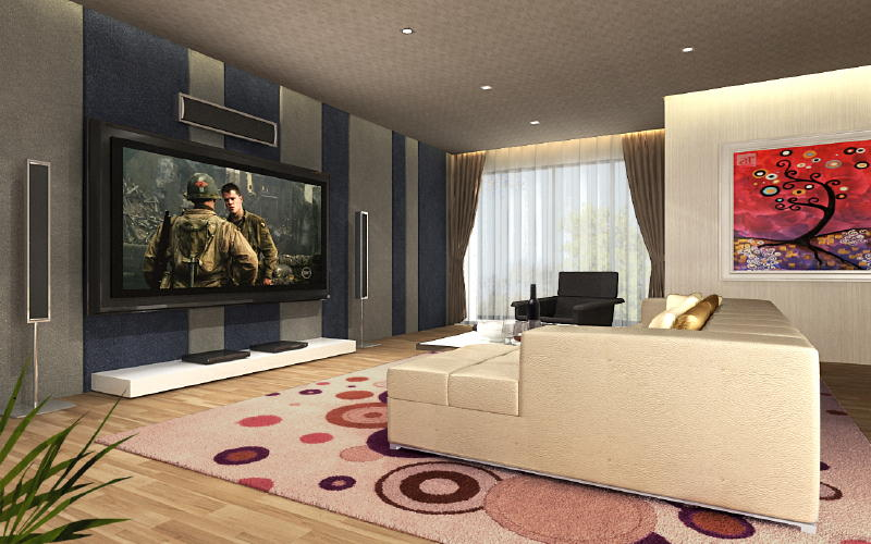 Telok Kurau Lor G AV Room 1 Interior Designs from DWorkz Group: Telok Kurau Lor G