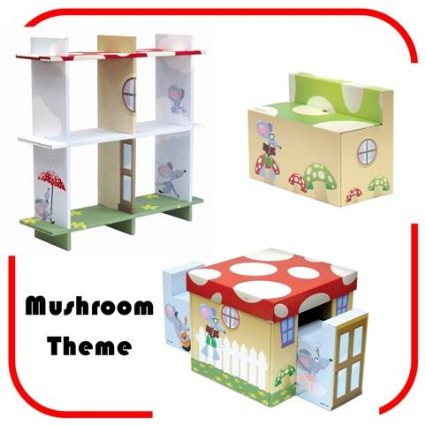 Mushroom Theme1 21st Century Furniture For Children