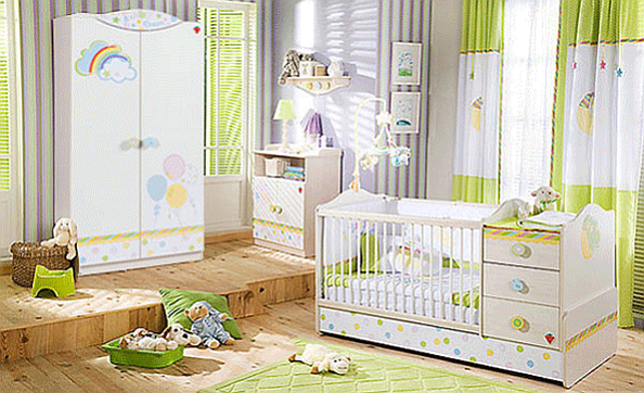 "The ""Baby Dream"" Big Baby Bedroom Set Children Furniture: Bedroom Set for 0 to 3 years old"