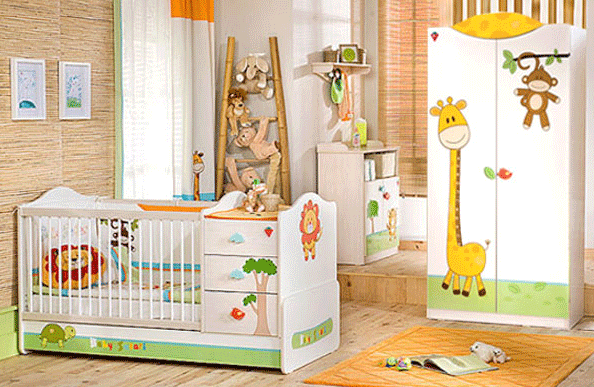 The Baby Safari Big Baby Bedroom Set Children Furniture: Bedroom Set for 0 to 3 years old