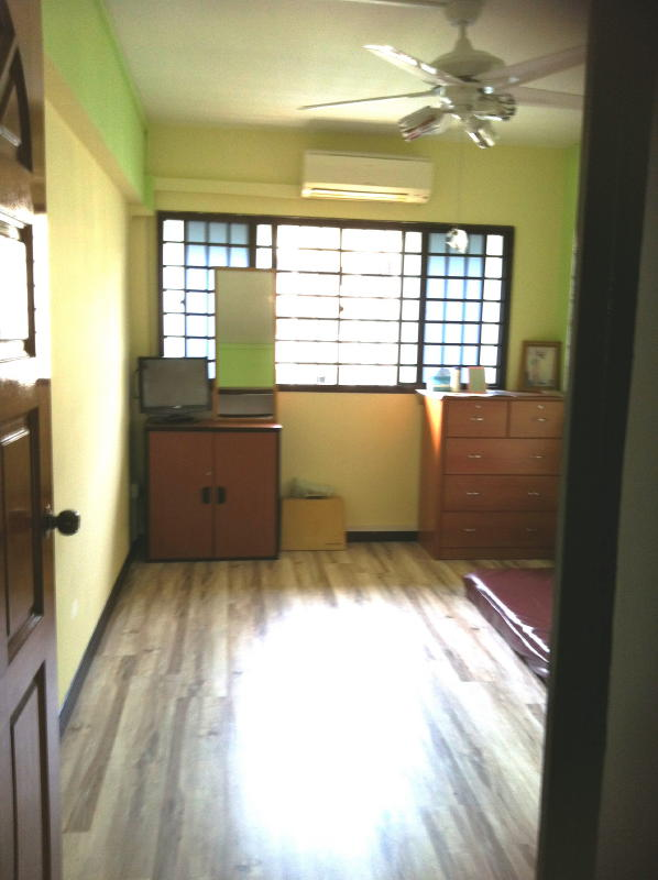 Common Room with laminated flooring 1 Makeover for 3 Bedrooms Jurong West Apartment