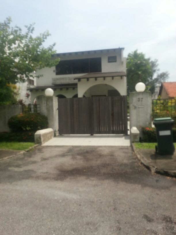 Vertical Wood Design with side door for landed detached house car driveway gate Custom Swing or Slide Driveway Gate and Gate Ornamentals for Singapore Commercial and Residential Landed Private Properties: Stainless Steel, Wrought Iron, Mild Steel and Timber / Aluminium Wood Grain Designs