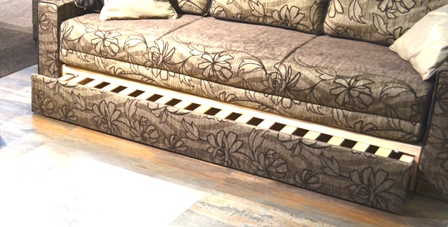 Hidden Bed design under Bed design under Beautiful Cozy Sofa upholstery classic glossy thread golden flower patterns Beautiful and Unique Designs Furniture, Lighting