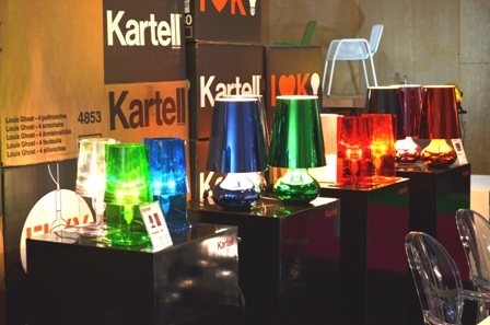Kartell lightings table lamps glossy unique colorful intensity blue green white orange and red Beautiful and Unique Designs Furniture, Lighting