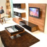 Living Room Spring Furniture and TV console, Coffee Table with glossy finishing by Team 7