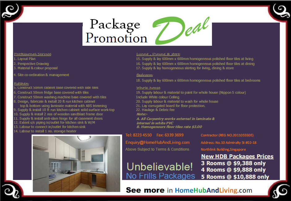 New HDB Flat Package Promotion Package Deal png1 NEW Condo and HDB Apartment Reno Promotion
