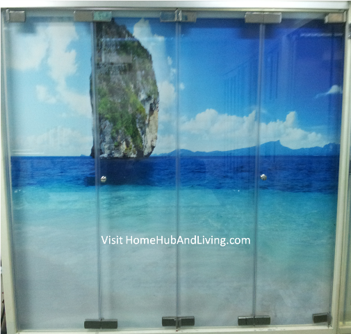 Frameless Door Closed Position View  Official Site of Latest Frameless Doors System & Flying Door Designs: Space Design Solutions for protecting Home Balcony, Patio, Room Dividers, Home Office, Office Partition, Co Space Solutions and more!