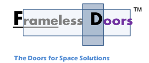 Frameless Door Logo TM 300x128 Official Site of Latest Frameless Doors System & Flying Door Designs: Space Design Solutions for protecting Home Balcony, Patio, Room Dividers, Home Office, Office Partition and more!