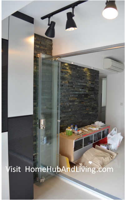 Official site of latest frameless doors system flying for Living room door designs