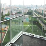 Uniquely Beautiful Singapore City View, Frameless Glass Curtain for Balcony, Patio. Wind entrance from Front View