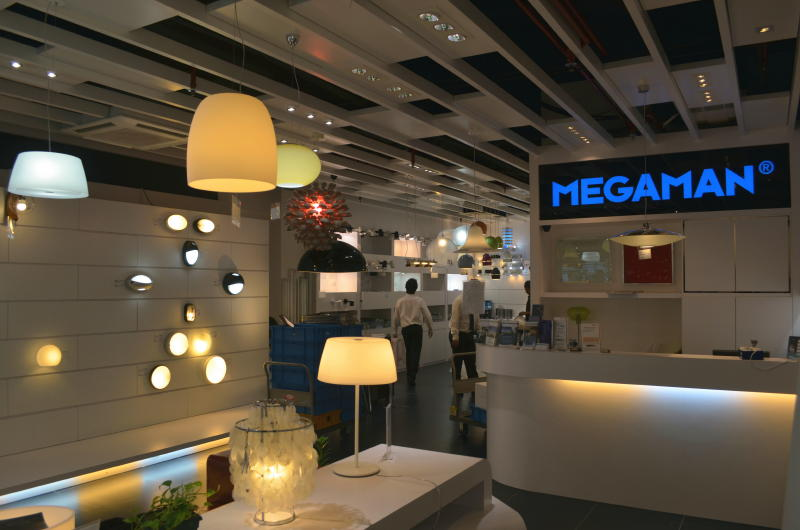 MEGAMAN Wall Lightings Display New MEGAMAN Concept Store Open in Kitchener Road