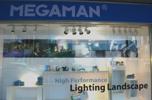 MEGAMAN lightings Landscape Display 300x198 New MEGAMAN Concept Store Open in Kitchener Road