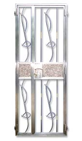 Stainless Steel Gate fish design and marble embedded design Stainless Steel Front Gate Door for Private Apartment and Houses, DBSS and HDB: Customise Designs with Embedded Marble