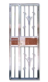 Stainless Steel Gate flower design and marble embedded design side gate plain Stainless Steel Front Gate Door for Private Apartment and Houses, DBSS and HDB: Customise Designs with Embedded Marble