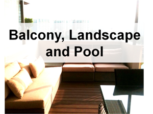Balcony Landscape and Pool 300x223 Interior Designs