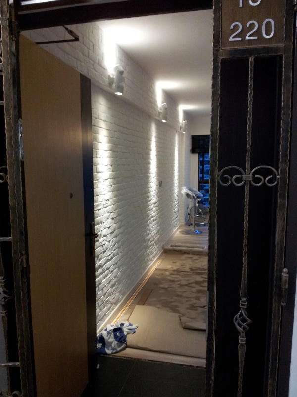 Scandinavia Feel Entrance with lighting effects Scandinavia Industrial Design for 4RM HDB Apartment