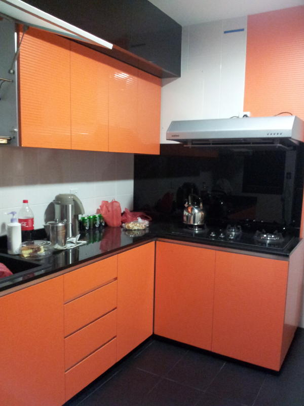 Technical Color for uniqueness in Kitchen1 Scandinavia Industrial Design for 4RM HDB Apartment