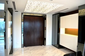 Left view on Front Foyer 4 300x198 Tanjong Rhu Penthouse Double Storey Modern Oriental Designer Style: Foyer