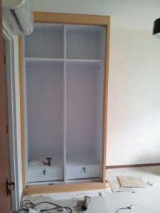 Master Room Wardrobe 225x300 Modern Design for HDB 3 Room Type in Punggol Spectra