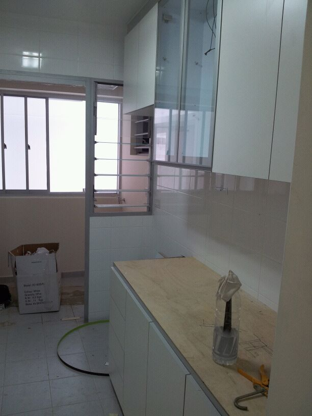 ... Kitchen and Display 225x300 Modern Design for HDB 3 Room Type in