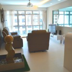 Seng Kang HDB Compassvale Beacon Living Room Hall, picture frame sofa table top, common room and water feature