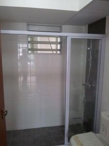 Shower Screen 225x300 Modern Design for HDB 3 Room Type in Punggol Spectra