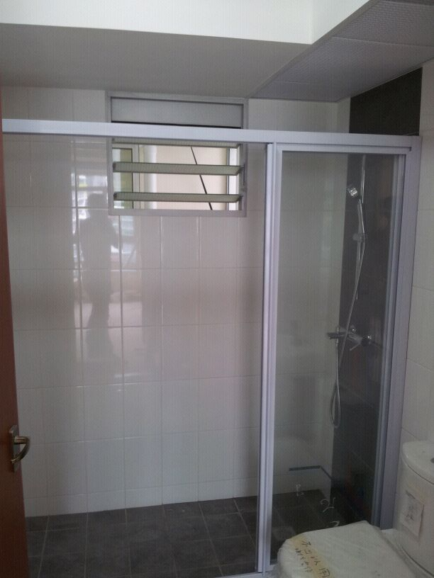 Hdb 3 Room Toilet Design Part   39: Shower Screen 225x300 Modern Design For  HDB Part 36