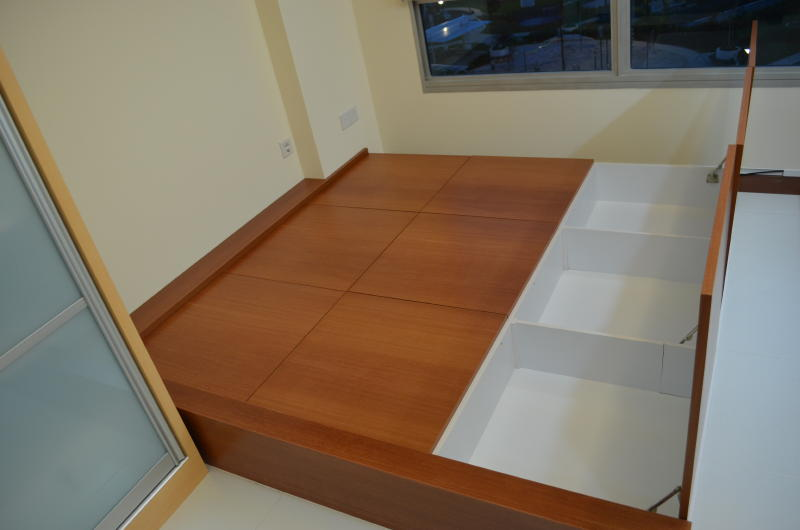 design and built tatami bed view 2