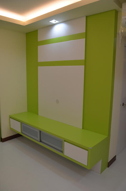 type of furniture design. Designer Suspensed TV Console In Lively Green And White Tones Type Of Furniture Design U