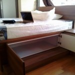 Shoes box / Studio customize bed frame with storage compartment (opened)