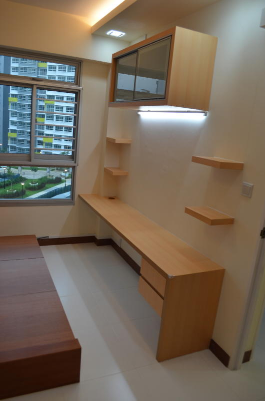 Modern design for hdb 3 room type apartment with modern Architect modern zen type house
