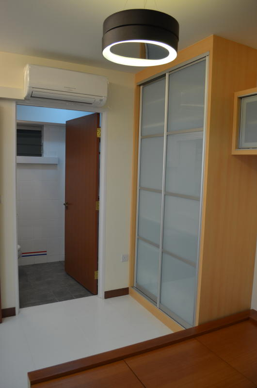 Modern Design for HDB 3 Room Type Apartment with Modern Zen Bed Frame ...