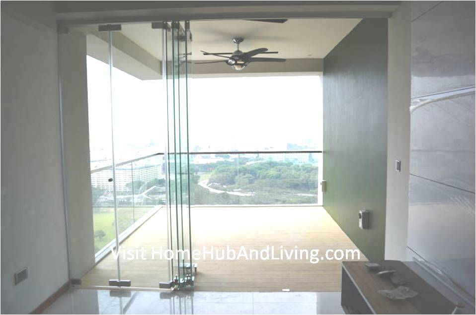 Half Opened Frameless Door Beautiful Balcony City View robust innovative glass system True Open Concept Design with Living Room and Balcony: Enjoy Full View and New Define Feeling of Balcony Space