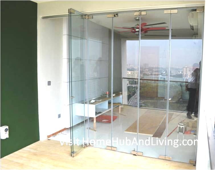 Partial Frameless Door Opened for Ventilation Living Room View Robust Innovative Glass System True Open Concept Design with Living Room and Balcony: Enjoy Full View and New Define Feeling of Balcony Space