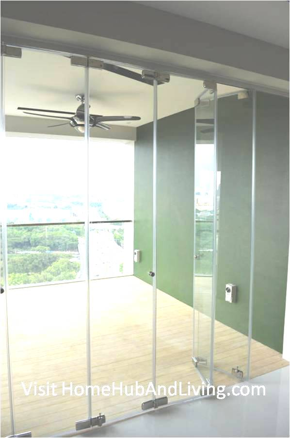 Partial Frameless Door Opened for Ventilation Side Balcony View Robust Innovative Glass System True Open Concept Design with Living Room and Balcony: Enjoy Full View and New Define Feeling of Balcony Space