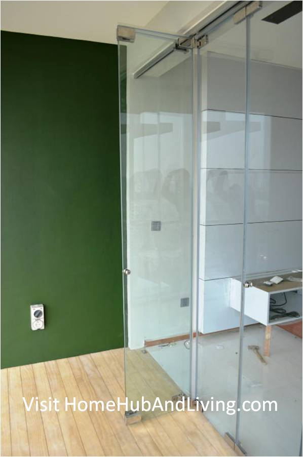 Partial Frameless Door Opened for Ventilation Side Living Room View Robust Innovative Glass System True Open Concept Design with Living Room and Balcony: Enjoy Full View and New Define Feeling of Balcony Space