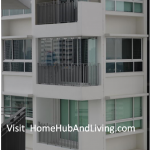 Useful Application 2 Partial Closed Frameless Doors for Ang Mo Kio HDB DBSS Balcony (Glass Curtain, smart windows, Folding Flying Door)