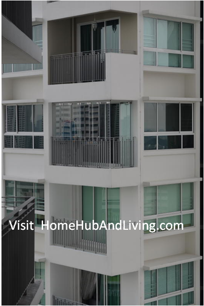 Useful Application 2 Partial Closed Frameless Doors for Ang Mo Kio HDB DBSS Balcony Glass Curtain smart windows Folding Flying Door Improve Your Balcony Compound More Hygiene Than Before: Reduce Dust and Water Entering Your Compound