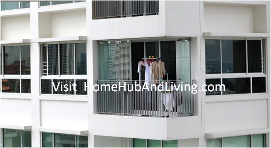 Useful Application Partial Opened Frameless Doors for Singapore HDB DBSS Balcony Glass Curtain smart window Folding Flying Door Improve Your Balcony Compound More Hygiene Than Before: Reduce Dust and Water Entering Your Compound