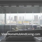 Full View of Frameless Door Closed Position for Singapore Luxury High End House Balcony Creative Designs with Gas Charcoal Barbeque Grill 150x150 2 bedroom apartment: Open Modern Cozy Concept lifestyle for Singlehood Lifestyle