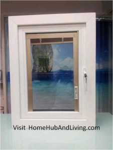 Beautiful Blind roll up fully 225x300 Sound Proofing or Noise Damping Cancellation / Reducing Barrier: UPVC Windows & Doors Solutions Now Come with Built in Curtain Blinds (Optional Woodgrain Aluminium Frame Door)