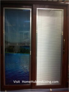 Left Blind down and flip Open Right Blind down and flip Close 225x300 Sound Proofing or Noise Damping Cancellation / Reducing Barrier: UPVC Windows & Doors Solutions Now Come with Built in Curtain Blinds (Optional Woodgrain Aluminium Frame Door)