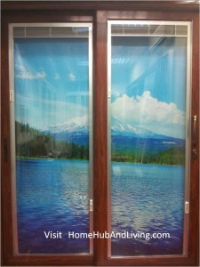 Left Blinds UP Right Blinds Up 225x300 Sound Proofing or Noise Damping Cancellation / Reducing Barrier: UPVC Windows & Doors Solutions Now Come with Built in Curtain Blinds (Optional Woodgrain Aluminium Frame Door)