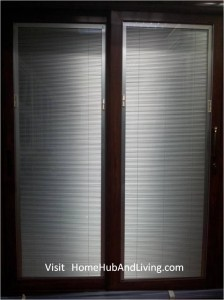 Left and Right blinds down flip Close 224x300 Sound Proofing or Noise Damping Cancellation / Reducing Barrier: UPVC Windows & Doors Solutions Now Come with Built in Curtain Blinds (Optional Woodgrain Aluminium Frame Door)